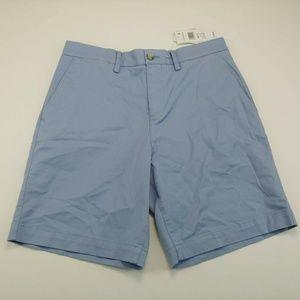 Lacoste Men's Short Blue Regular Fit Flat Front